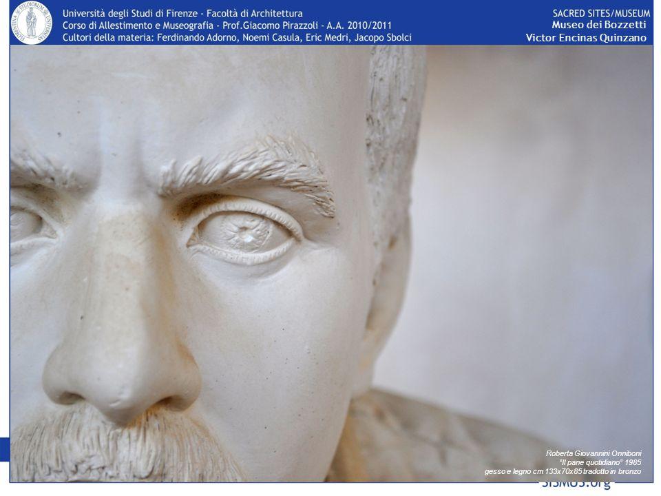 Museo dei Bozzetti Victor Encinas Quinzano Roberta Giovannini Onniboni Il pane quotidiano 1985 gesso e legno cm 133x70x85 tradotto in bronzo