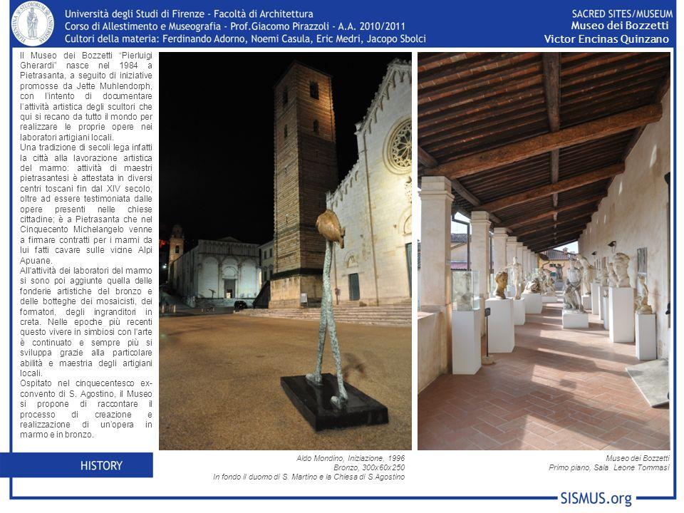 Il Museo dei Bozzetti Pierluigi Gherardi nasce nel 1984 a Pietrasanta, a seguito di iniziative promosse da Jette Muhlendorph, con lintento di documentare lattività artistica degli scultori che qui si recano da tutto il mondo per realizzare le proprie opere nei laboratori artigiani locali.