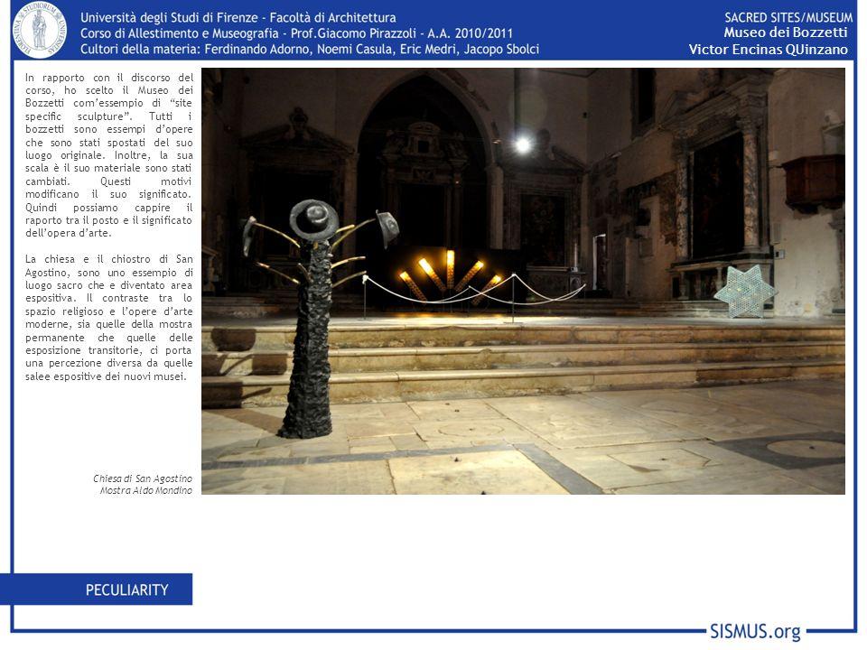 In rapporto con il discorso del corso, ho scelto il Museo dei Bozzetti comessempio di site specific sculpture.