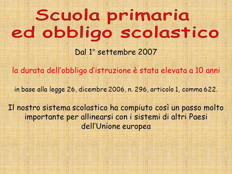 Dal 1° settembre 2007 la durata dellobbligo distruzione è stata elevata a 10 anni in base alla legge 26, dicembre 2006, n. 296, articolo 1, comma 622.