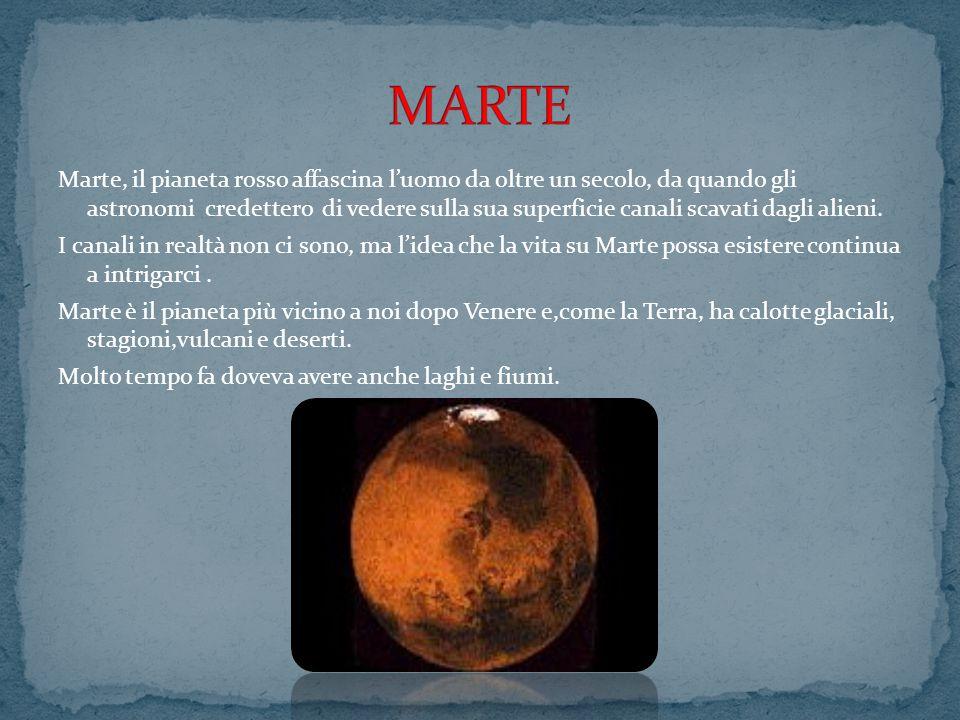 Marte, il pianeta rosso affascina luomo da oltre un secolo, da quando gli astronomi credettero di vedere sulla sua superficie canali scavati dagli ali