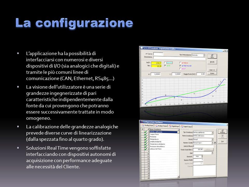 Dopo i primi step di configurazione lUtente può assemblare le azioni da compiere al fine di testare il proprio prodotto.