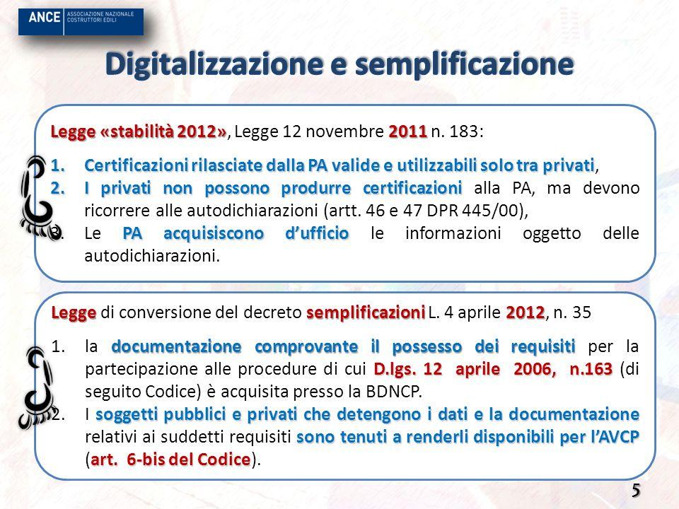 Legge semplificazioni 2012 Legge di conversione del decreto semplificazioni L. 4 aprile 2012, n. 35 documentazione comprovante il possesso dei requisi