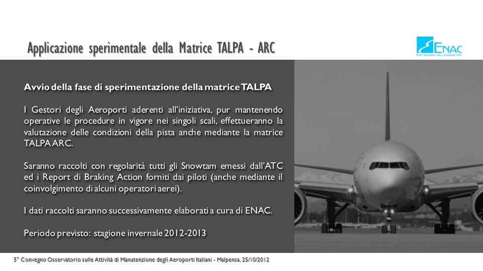 La proposta di emendamento al RCEA 5° Convegno Osservatorio sulle Attività di Manutenzione degli Aeroporti Italiani - Malpensa, 25/10/2012