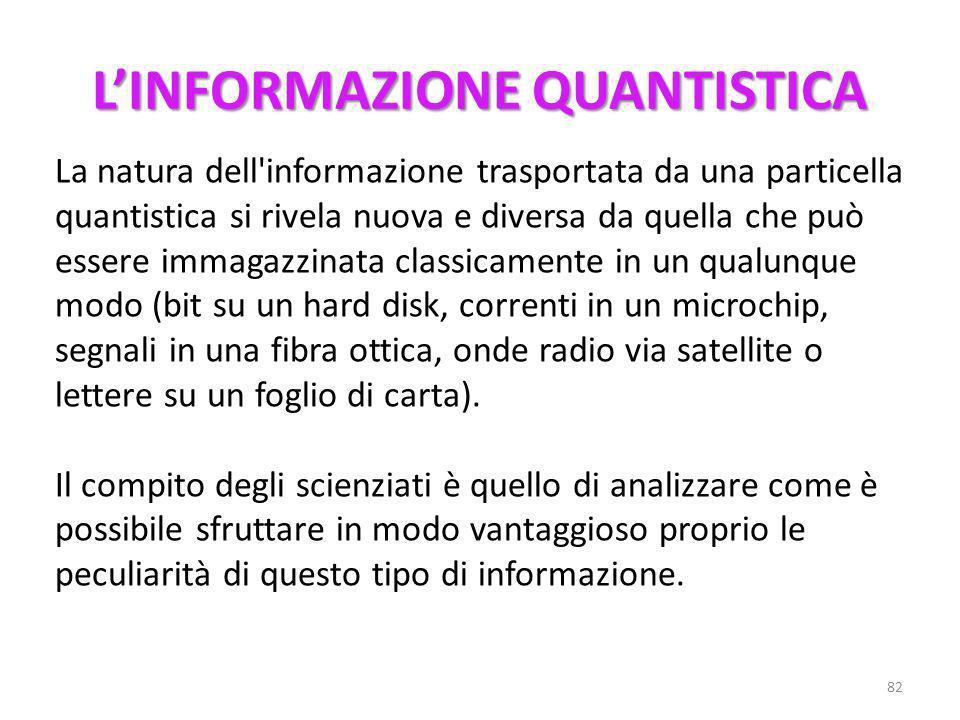 Al concetto di Informazione è stata data una sistemazione formale da Shannon nel 1948 nella teoria matematica dellinformazione. La teoria dell'informa