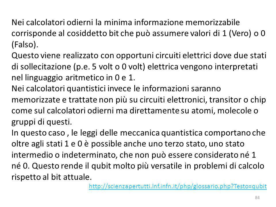 QUBIT, informazione originaria BIT, informazione codificata EBIT, mutua informazione Storicamente si è passati dal bit della Teoria dell'Informazione