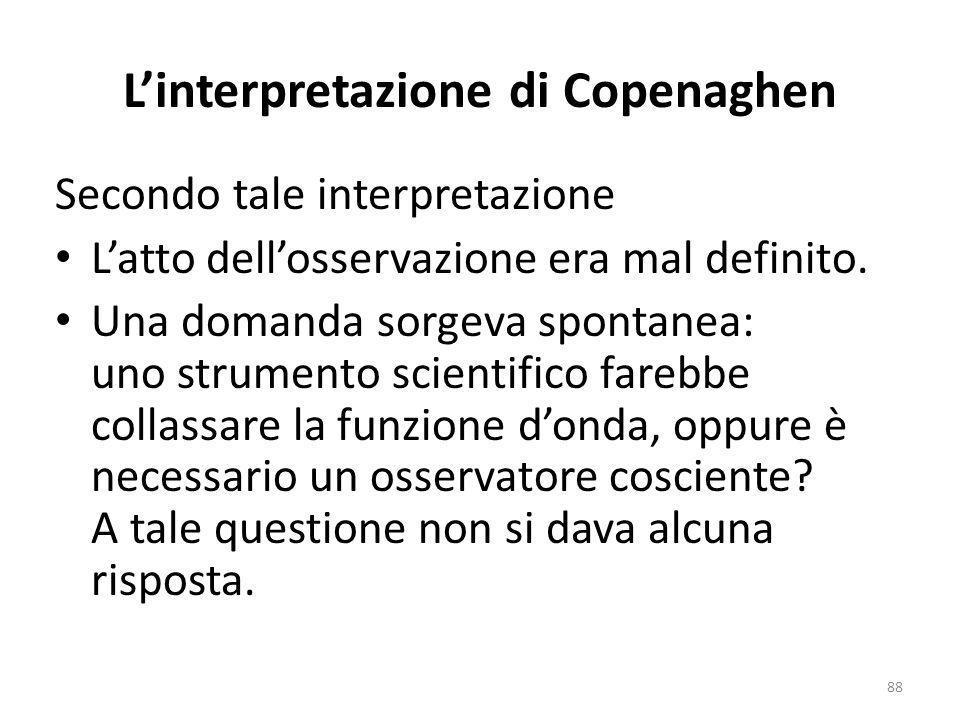 La separazione, levento, avviene mediante uninterdipendenza tra eventi ed in questo senso non è separazione ma rappresenta ununità, uninseparabilità.