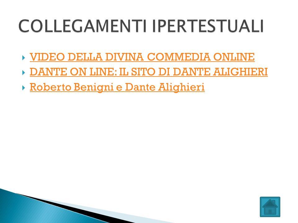 VIDEO DELLA DIVINA COMMEDIA ONLINE DANTE ON LINE: IL SITO DI DANTE ALIGHIERI Roberto Benigni e Dante Alighieri