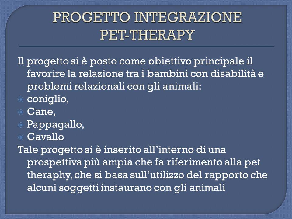 Per quanto riguarda lIppoterapia, questultima ha avuto una valenza riabilitativa ed un effetto terapeutico insostituibile.