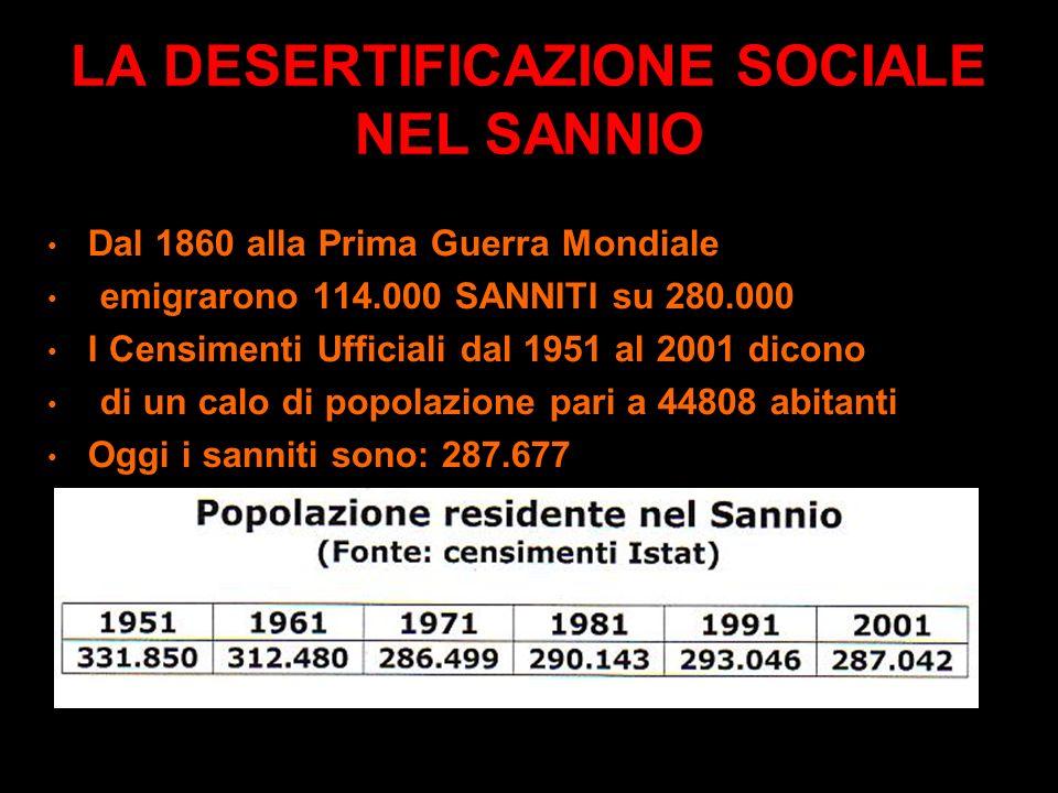 LA DESERTIFICAZIONE SOCIALE 1/3 dei Comuni italiani in area montana o nelle aree più periferiche è a rischio desertificazione o si è già desertificato