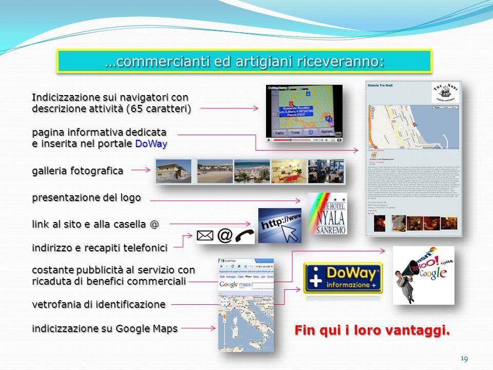 Indicizzazione sui navigatori con descrizione attività (65 caratteri) pagina informativa dedicata e inserita nel portale DoWay galleria fotografica pr