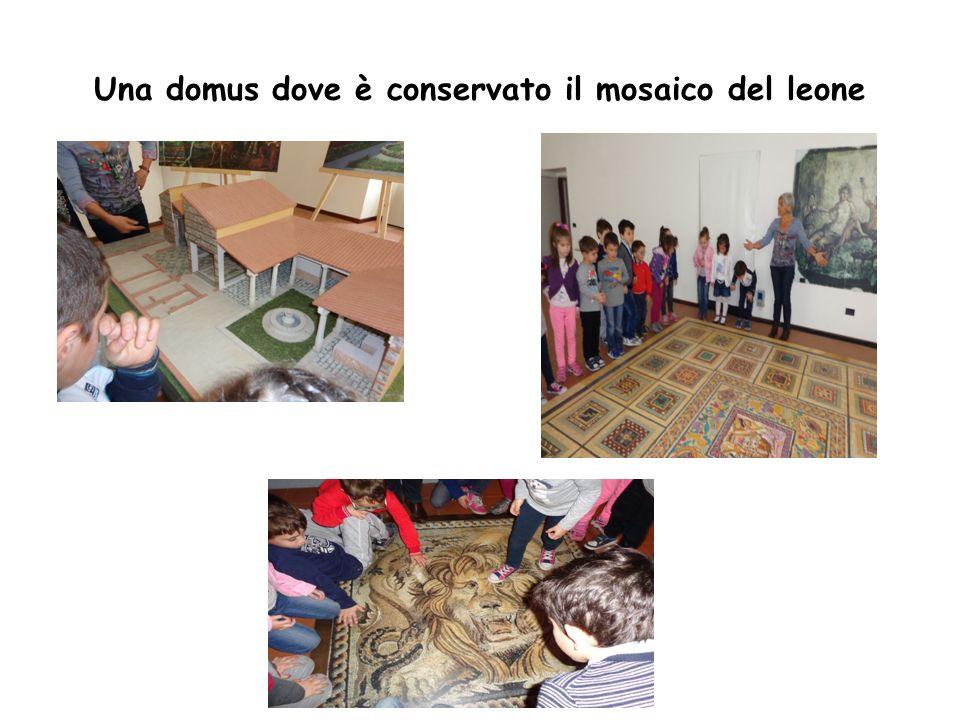 Una domus dove è conservato il mosaico del leone