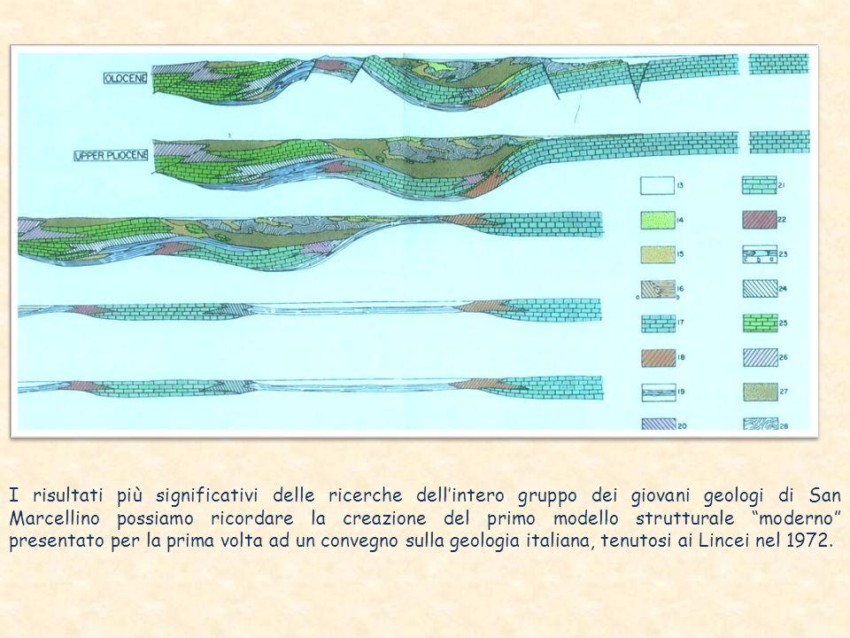 I risultati più significativi delle ricerche dellintero gruppo dei giovani geologi di San Marcellino possiamo ricordare la creazione del primo modello strutturale moderno presentato per la prima volta ad un convegno sulla geologia italiana, tenutosi ai Lincei nel 1972.