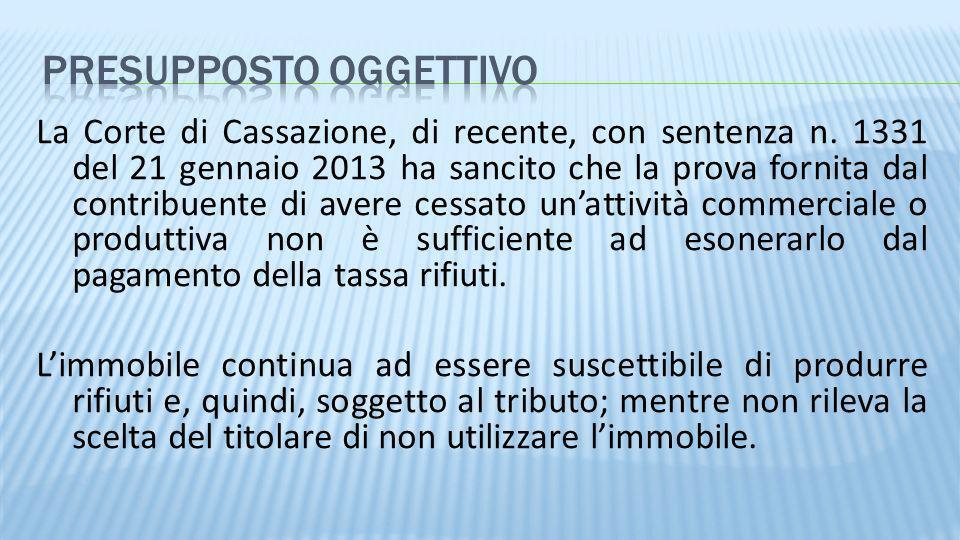 La Corte di Cassazione, di recente, con sentenza n. 1331 del 21 gennaio 2013 ha sancito che la prova fornita dal contribuente di avere cessato unattiv