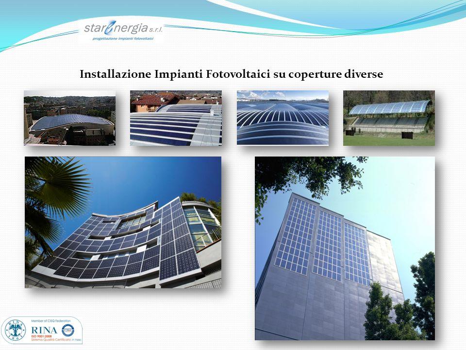 Installazione Impianti Fotovoltaici su coperture diverse