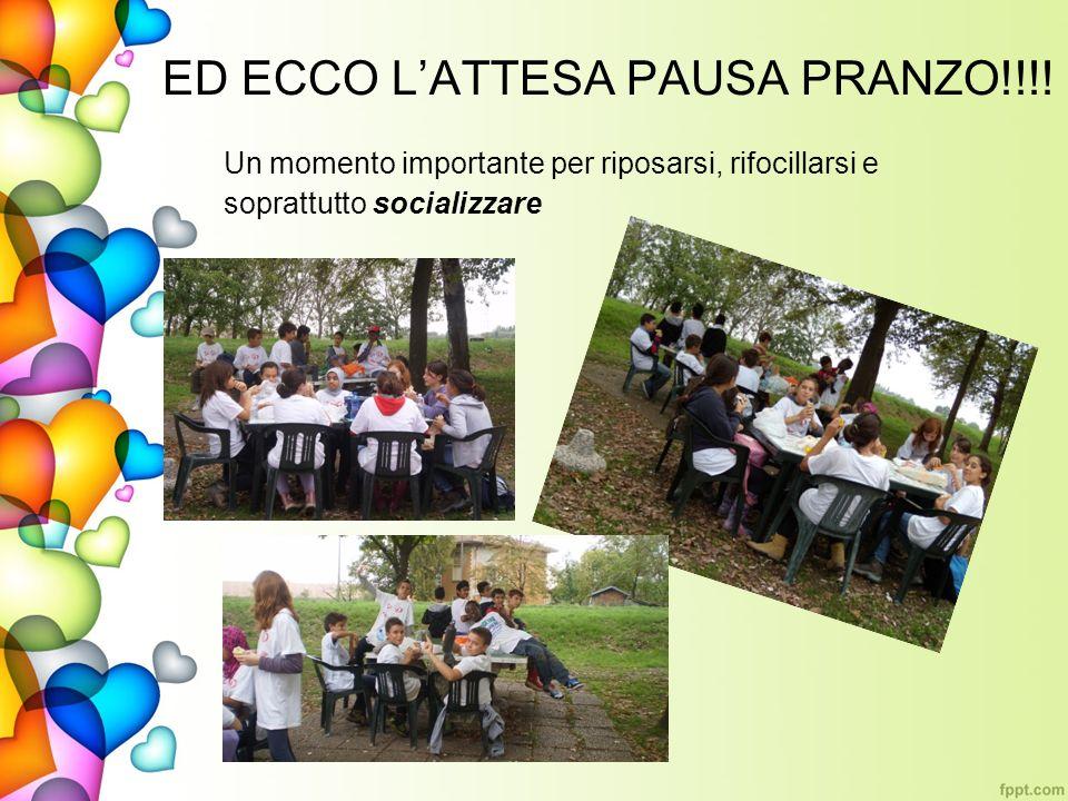 ED ECCO LATTESA PAUSA PRANZO!!!! Un momento importante per riposarsi, rifocillarsi e soprattutto socializzare
