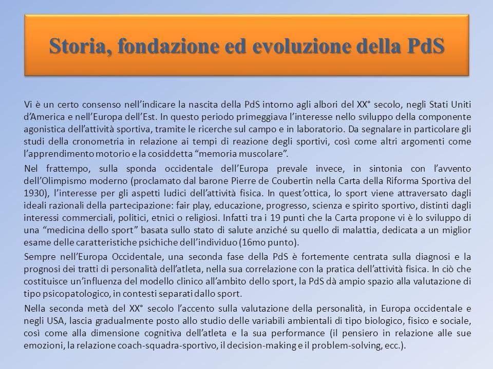 Storia, fondazione ed evoluzione della PdS Vi è un certo consenso nellindicare la nascita della PdS intorno agli albori del XX° secolo, negli Stati Un