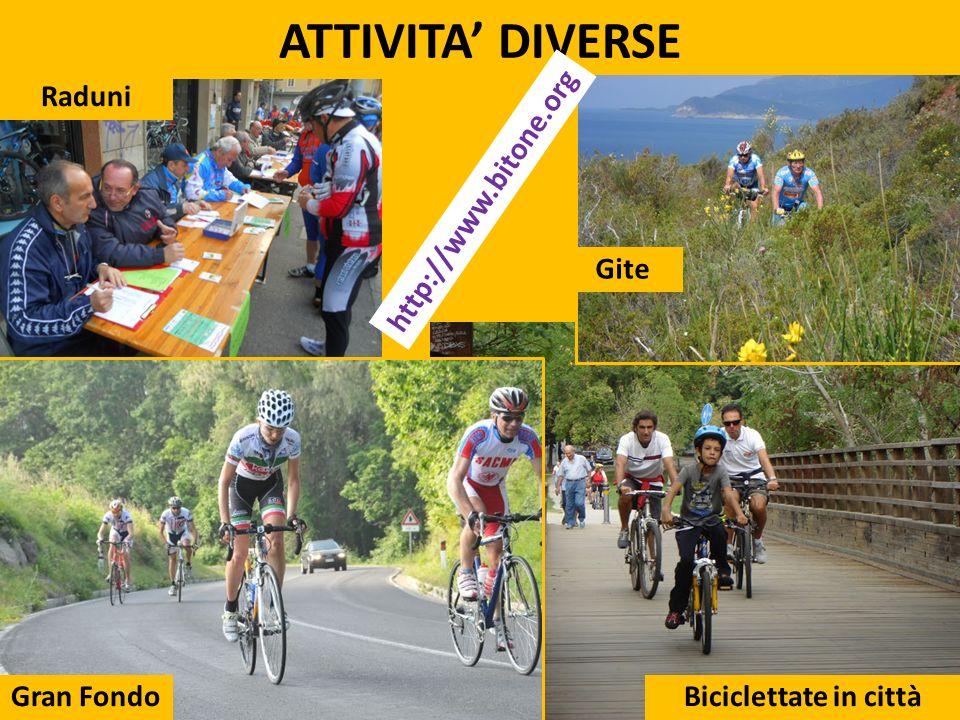 ATTIVITA DIVERSE UNIBIKE 20135 Raduni Gran Fondo Gite Biciclettate in città http://www.bitone.org