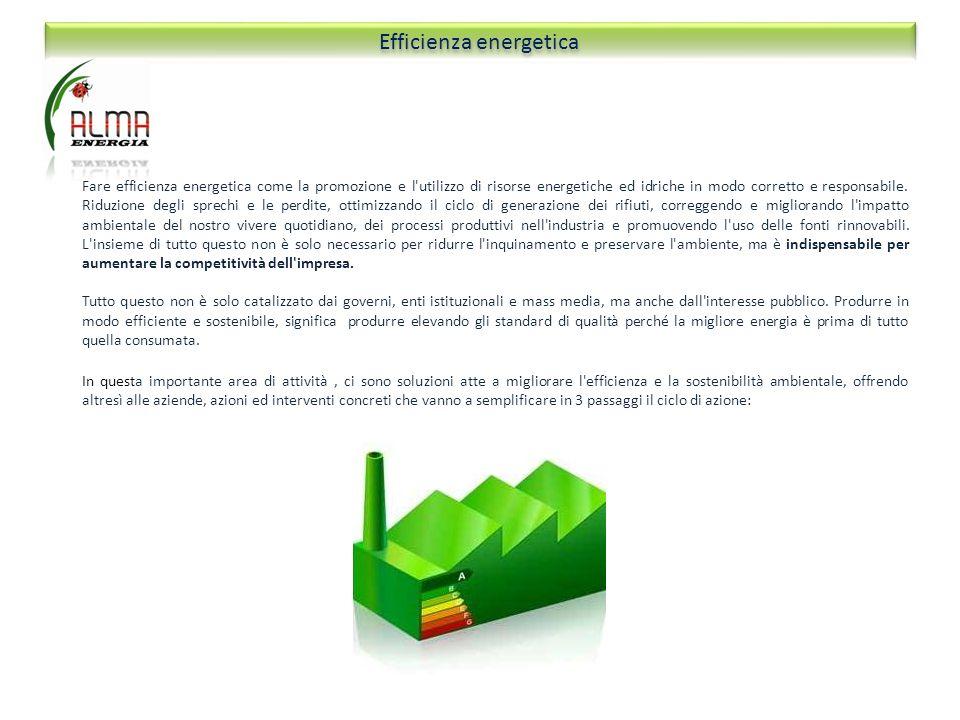 Fare efficienza energetica come la promozione e l'utilizzo di risorse energetiche ed idriche in modo corretto e responsabile. Riduzione degli sprechi
