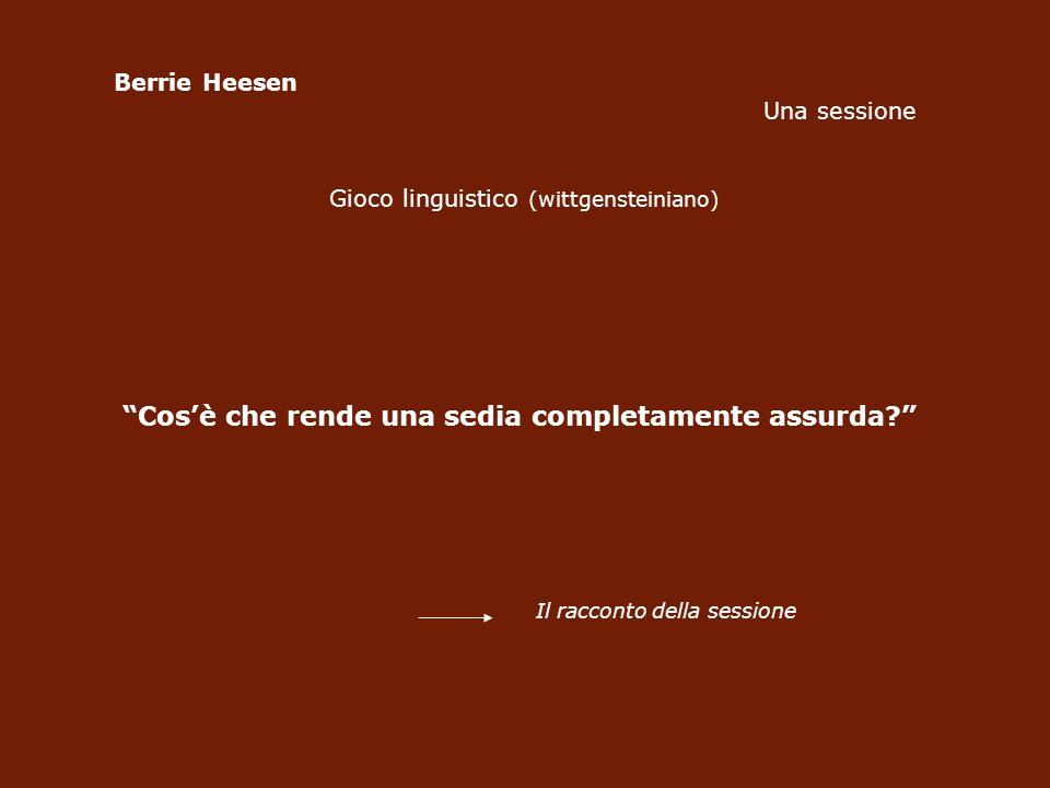 Berrie Heesen Una sessione Gioco linguistico (wittgensteiniano) Cosè che rende una sedia completamente assurda.