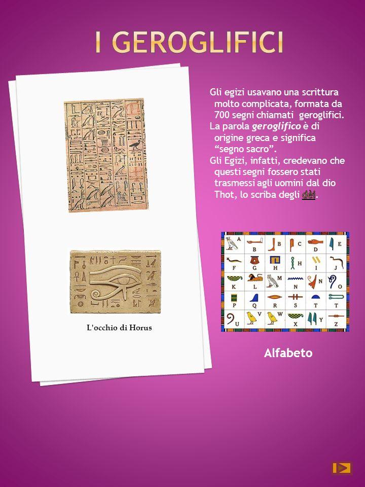 Alfabeto L occhio di Horus