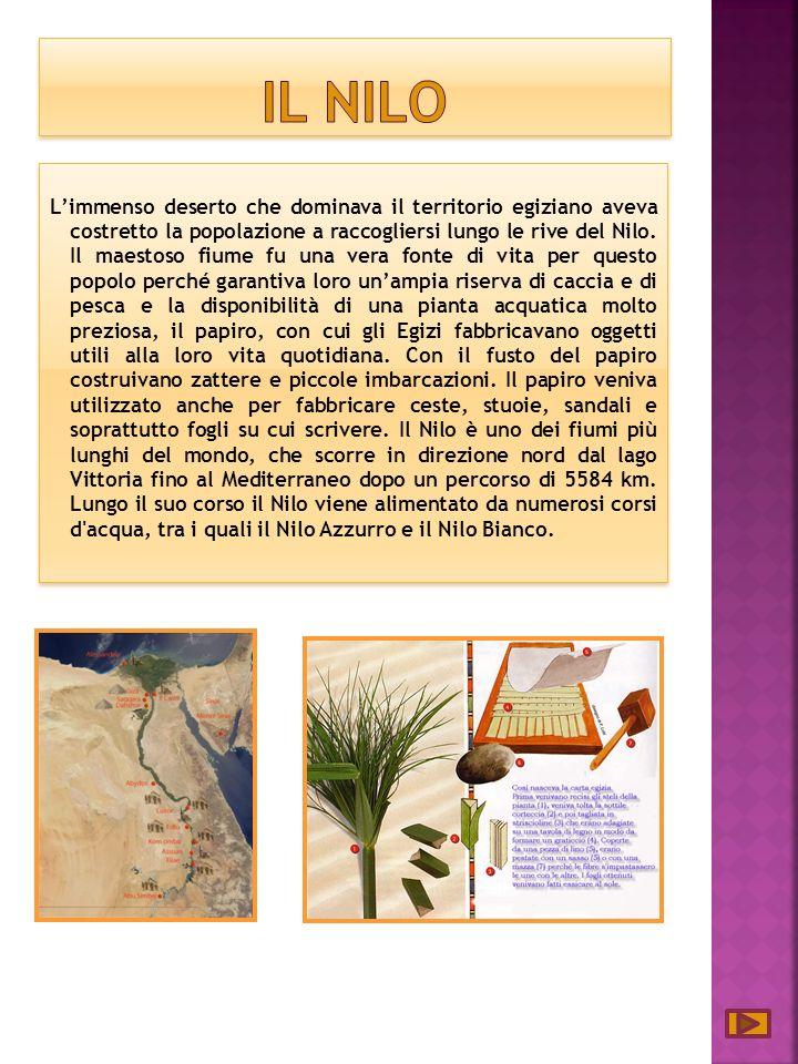 Limmenso deserto che dominava il territorio egiziano aveva costretto la popolazione a raccogliersi lungo le rive del Nilo.