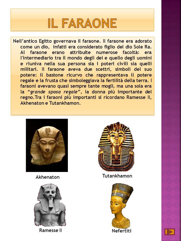 Nellantico Egitto governava il faraone.