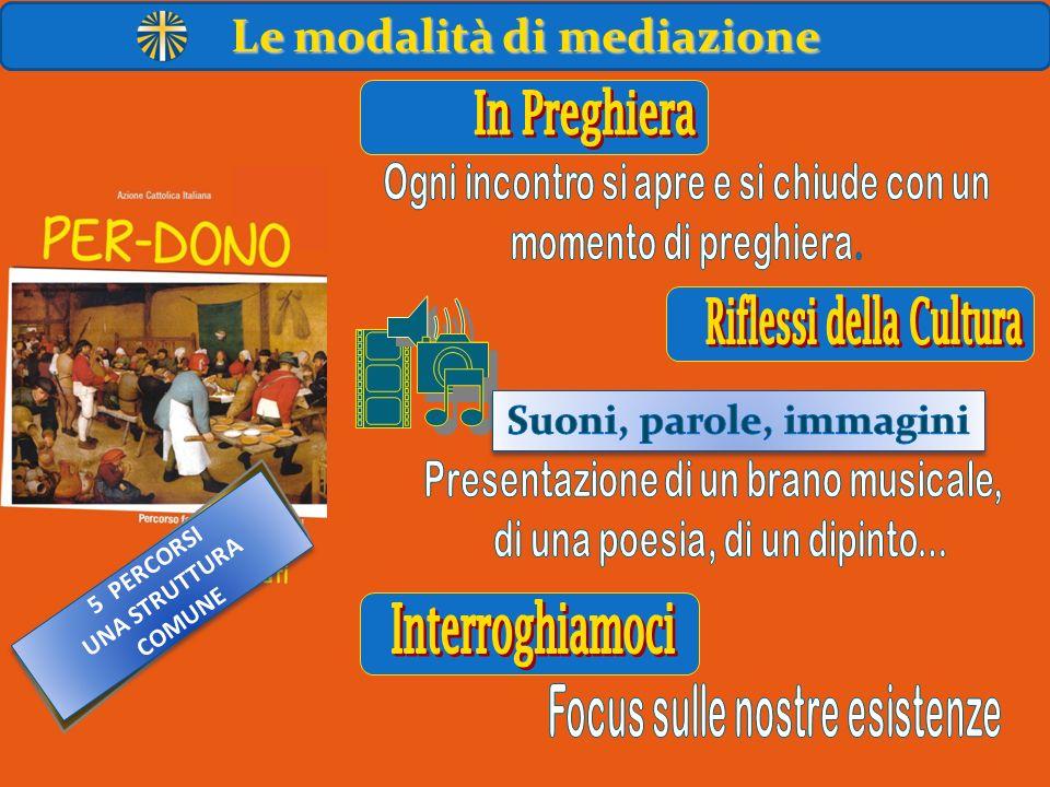 5 PERCORSI UNA STRUTTURA COMUNE 5 PERCORSI UNA STRUTTURA COMUNE Le modalità di mediazione