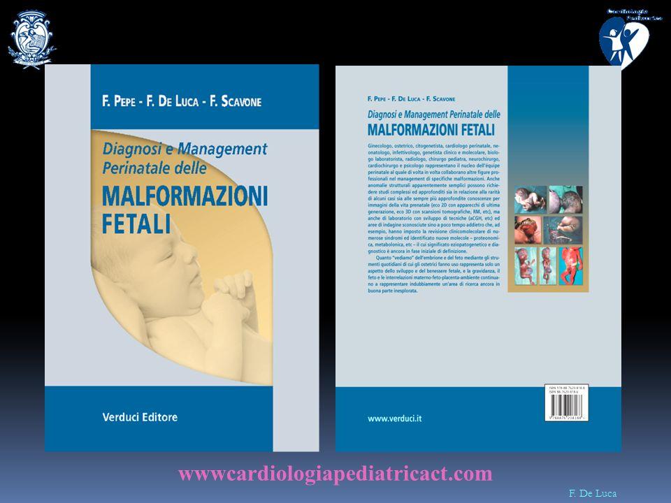 F. De Luca Ruolo della Diagnostica Prenatale Diagnosi Prenatale Counseling Prenatale