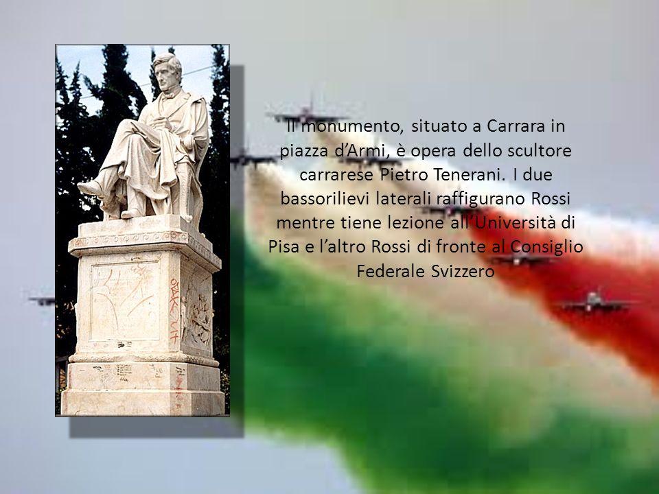 Il monumento, situato a Carrara in piazza dArmi, è opera dello scultore carrarese Pietro Tenerani.