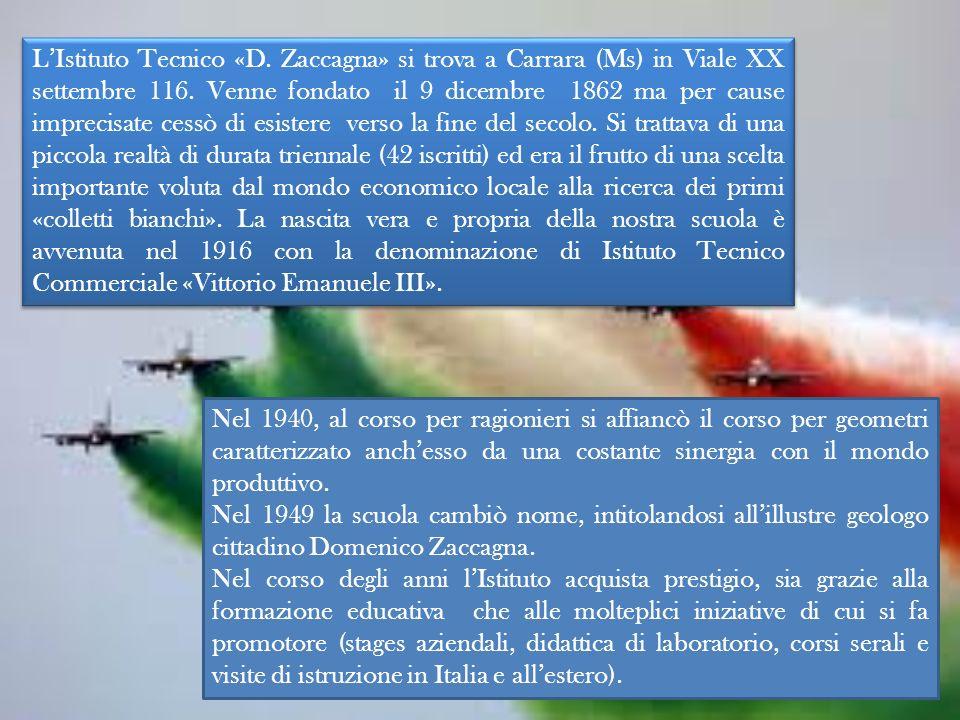 LIstituto Tecnico «D.Zaccagna» si trova a Carrara (Ms) in Viale XX settembre 116.