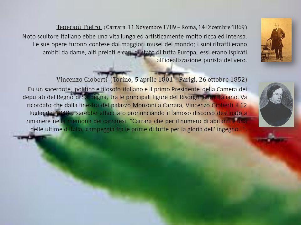Tenerani Pietro (Carrara, 11 Novembre 1789 – Roma, 14 Dicembre 1869) Noto scultore italiano ebbe una vita lunga ed artisticamente molto ricca ed intensa.