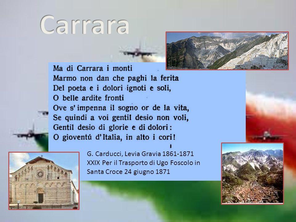 G. Carducci, Levia Gravia 1861-1871 XXIX Per il Trasporto di Ugo Foscolo in Santa Croce 24 giugno 1871