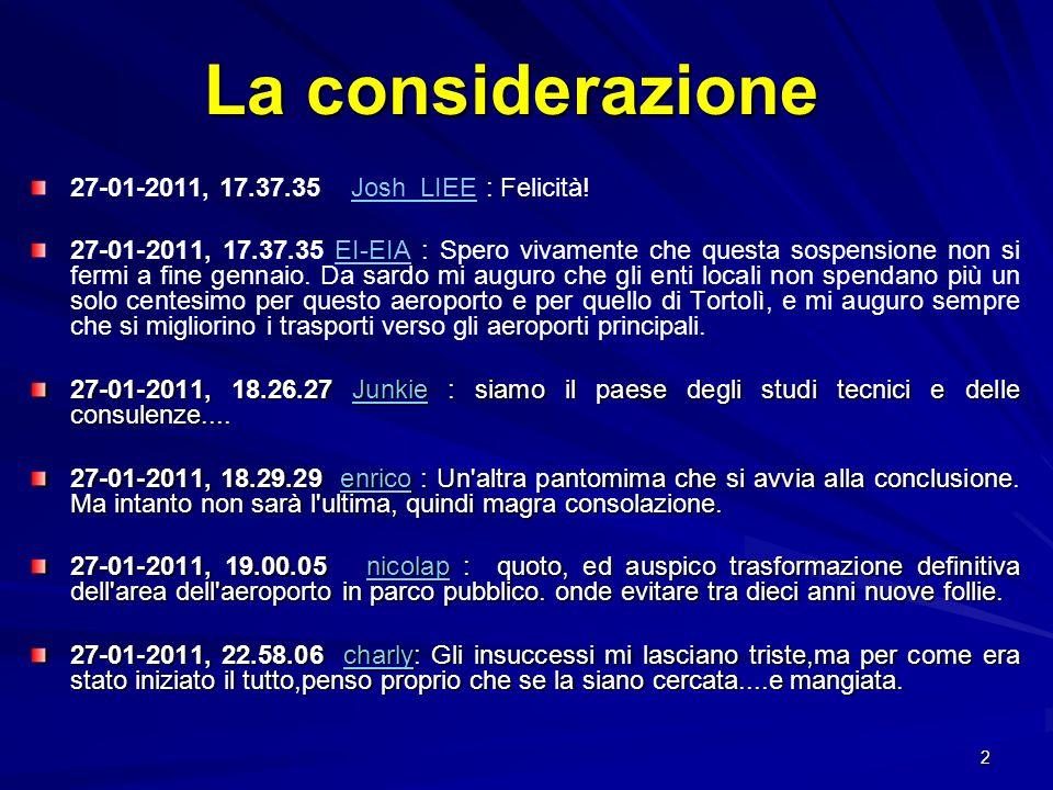 33 Aeroporto di Cagliari Volume traffico: 13 ° in Italia e 99 ° in Europa per passeggeri Sedime aeroportuale: 287 HA (comprensivi parte militare) Classificazione ICAO: 4D Pista- QFU : 2805 x 45 m 14-32 Azionariato: Camera Commercio Cagliari 93,8% Aeroporto di Olbia Volume traffico: 20 ° in Italia e 147 ° in Europa per passeggeri Sedime aeroportuale: 100 HA Classificazione ICAO: 4D Pista- QFU : 2445 x 45 m 06-24 Azionariato: Meridiana 79,8%, Camere Commercio 18,4%