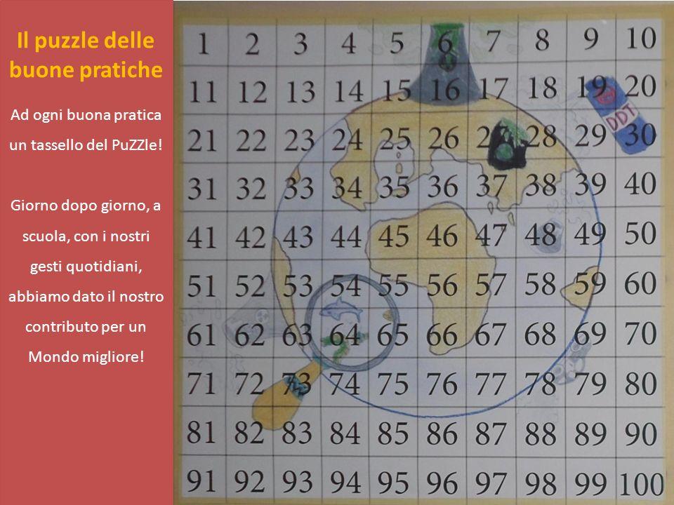 Il puzzle delle buone pratiche Ad ogni buona pratica un tassello del PuZZle! Giorno dopo giorno, a scuola, con i nostri gesti quotidiani, abbiamo dato
