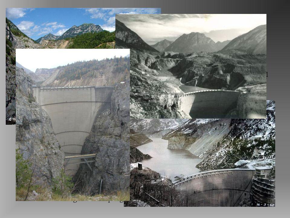 Vajont La frana che si staccò alle ore 22.39 dalle pendici settentrionali del monte Toc precipitando nel bacino artificiale sottostante aveva dimensio