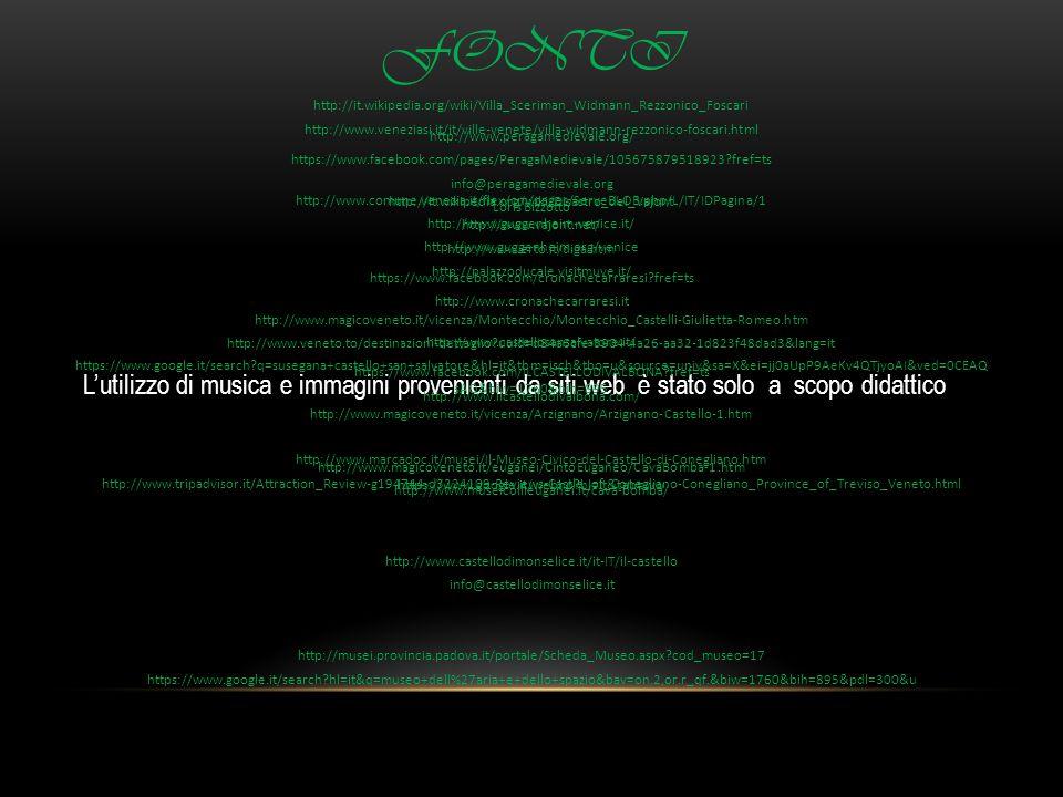 Lutilizzo di musica e immagini provenienti da siti web è stato solo a scopo didattico FONTI http://www.peragamedievale.org/ https://www.facebook.com/p