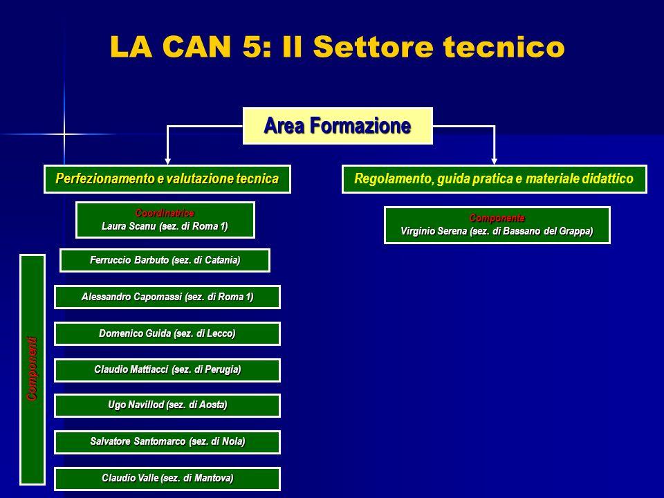 Area Formazione Coordinatrice Laura Scanu (sez. di Roma 1) Perfezionamento e valutazione tecnica Regolamento, guida pratica e materiale didattico Ferr