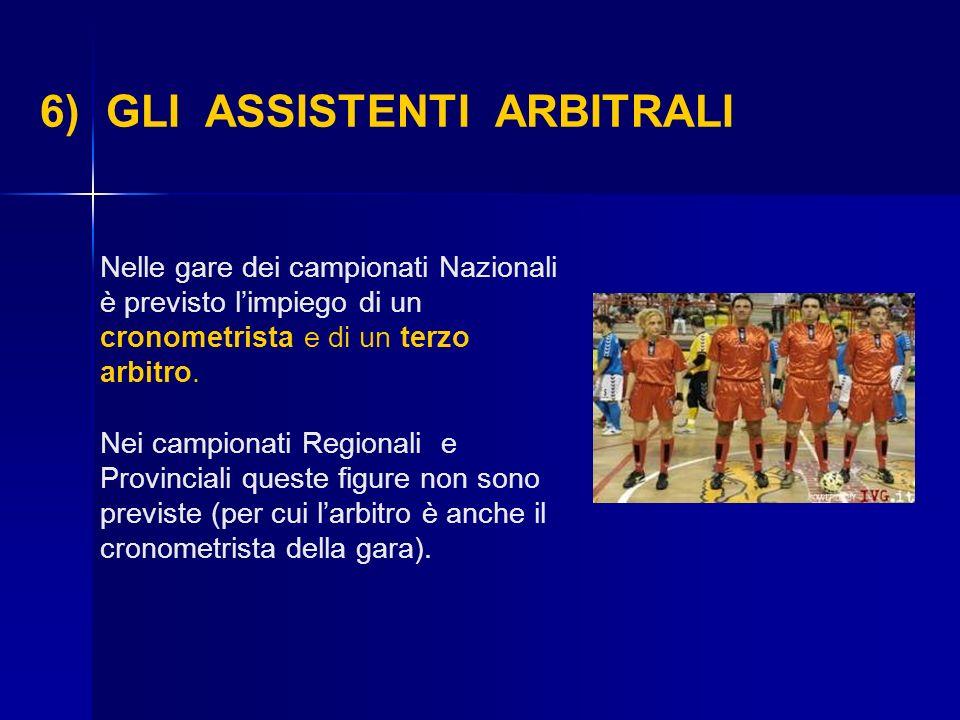 Nelle gare dei campionati Nazionali è previsto limpiego di un cronometrista e di un terzo arbitro. Nei campionati Regionali e Provinciali queste figur