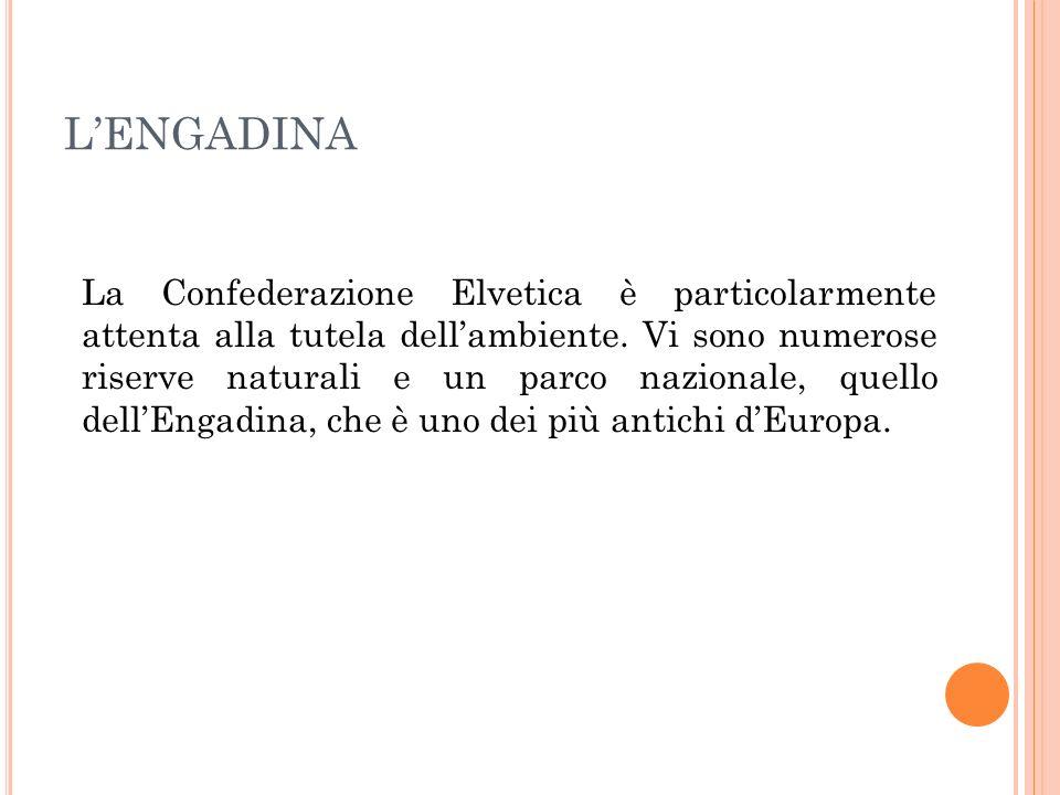 La Confederazione Elvetica è particolarmente attenta alla tutela dellambiente. Vi sono numerose riserve naturali e un parco nazionale, quello dellEnga