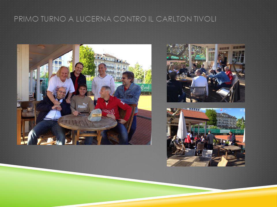 PRIMO TURNO A LUCERNA CONTRO IL CARLTON TIVOLI