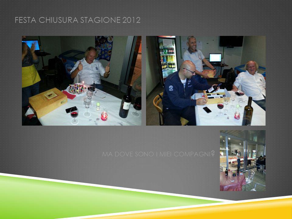 FESTA CHIUSURA STAGIONE 2012 MA DOVE SONO I MIEI COMPAGNI