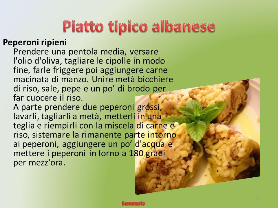 Peperoni ripieni Prendere una pentola media, versare l olio d oliva, tagliare le cipolle in modo fine, farle friggere poi aggiungere carne macinata di manzo.