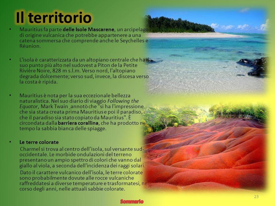 Mauritius fa parte delle Isole Mascarene, un arcipelago di origine vulcanica che potrebbe appartenere a una catena sommersa che comprende anche le Seychelles e Réunion.