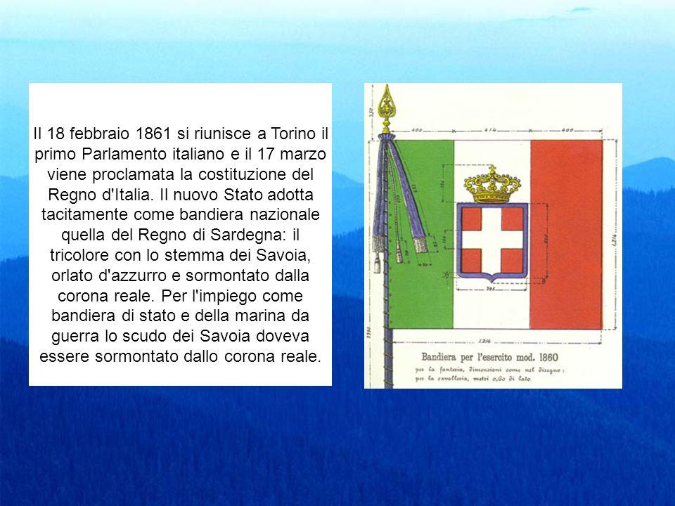 Il 18 febbraio 1861 si riunisce a Torino il primo Parlamento italiano e il 17 marzo viene proclamata la costituzione del Regno d'Italia. Il nuovo Stat