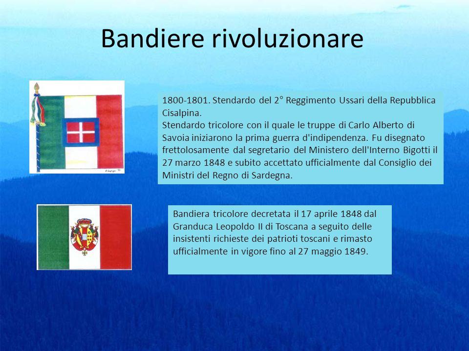 Bandiere rivoluzionare 1800-1801. Stendardo del 2° Reggimento Ussari della Repubblica Cisalpina. Stendardo tricolore con il quale le truppe di Carlo A