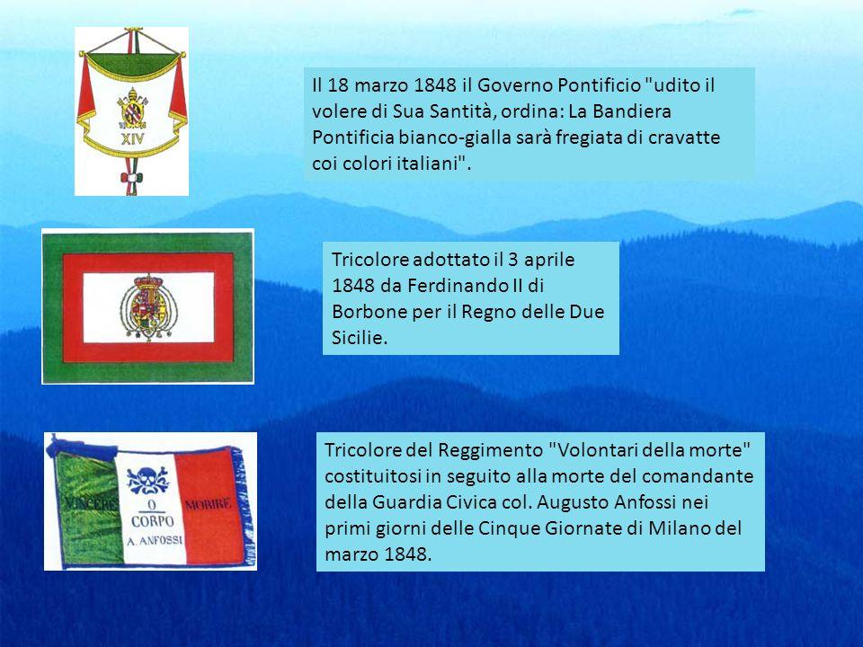Il 18 marzo 1848 il Governo Pontificio