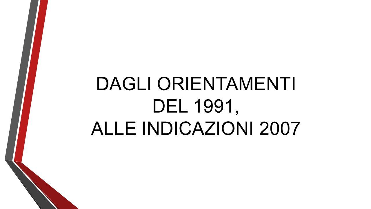 DAGLI ORIENTAMENTI DEL 1991, ALLE INDICAZIONI 2007