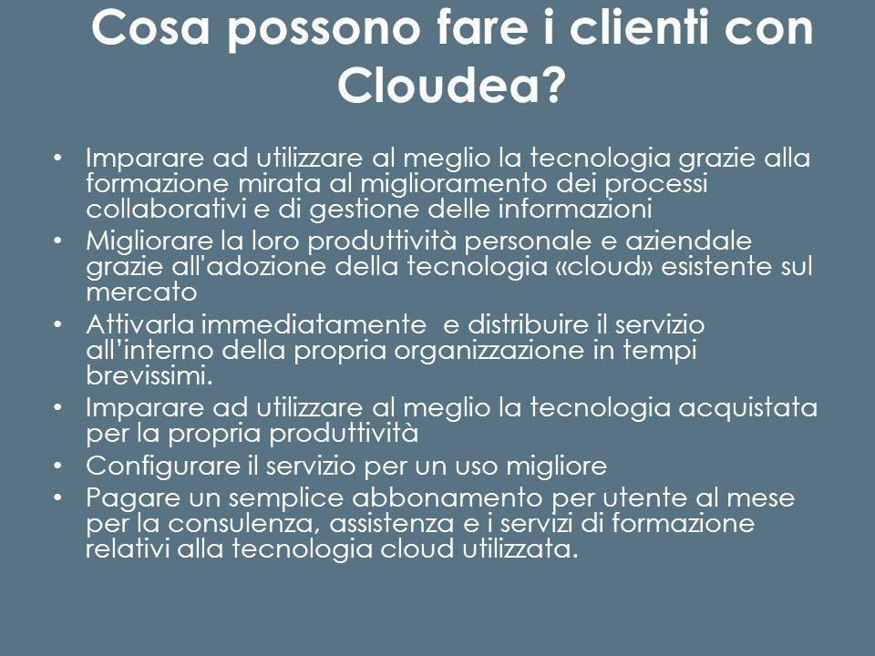 Cosa possono fare i clienti con Cloudea.