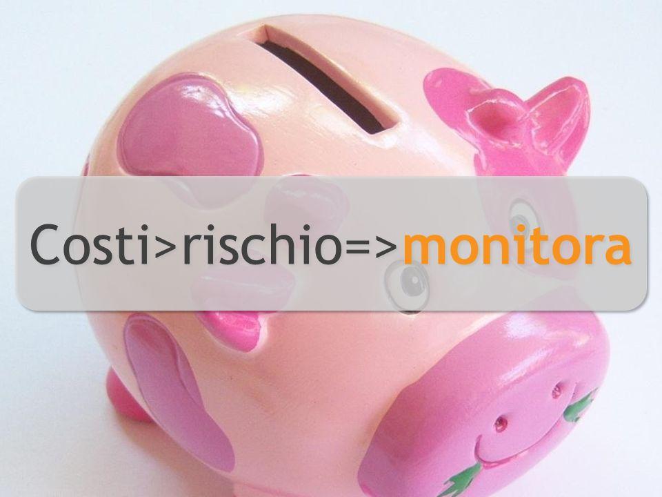 Costi>rischio=>monitora